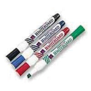 Assorted Whiteboard Markers Chisel Tip (4 Pack)