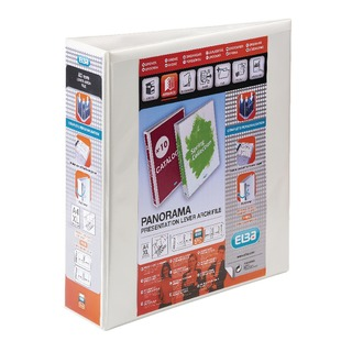Panorama White A4 Plus Presentation Lever Arch File (5 Pack) 40000843