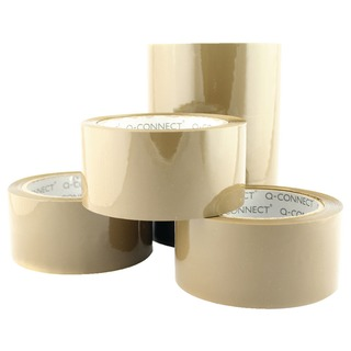 Low Noise Polypropylene Packaging Tape 50mm x 66m Brown (6 Pack)