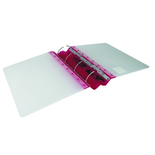 GLX Ergogrip Frosted Ring A4 Binder Raspberry (2 Pack)