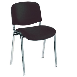 Ultra Charcoal/Chrome Stacking Chair