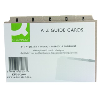 Guide Card 6x4 Inch A-Z Buff (25 Pack)