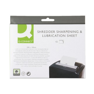 Shredder Sharpening and Lubrication Sheet 220x150mm