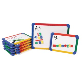 Me A4 Rainbow Framed Magnetic Whiteboard (10 Pack) MBA4/1