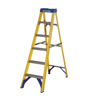 Fibreglass Swingback Step Ladder 6 Tread Yellow 71
