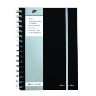 A5 Wirebound Black Jotta Notebook (3 Pack) SBJPOLYA5