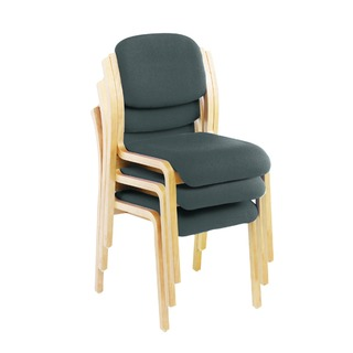 Reception Side Chairs No Arms Charcoal (3 Pack)