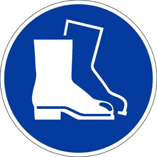 Use Foot Protection Floor Sign 173306