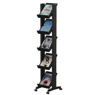 Black Mobile Easy Literature Display Narrow Single-Sided F259N01