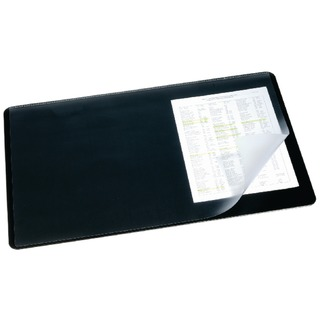 Black Desk Mat With Transparent Overlay 400x530mm 7202/
