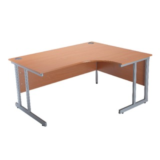 Intro Bavarian Beech 1500mm Radial Right Hand Cantilever Desk