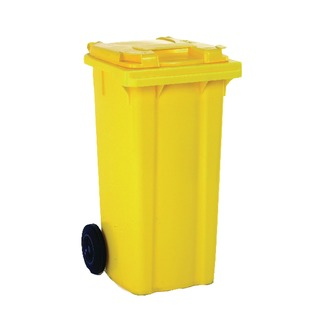 2 Wheel Yellow Refuse Container 80 Litre 331275