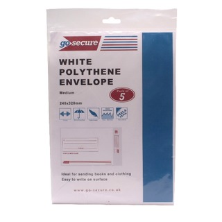 Secure Extra Strong Polythene Envelopes 245x320mm (50 Pack)