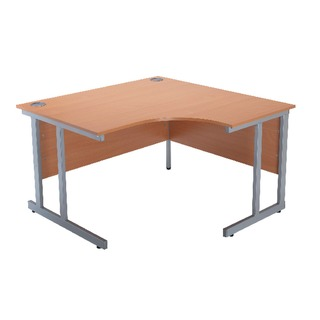 Intro Bavarian Beech 1200mm Radial Right Hand Cantilever Desk