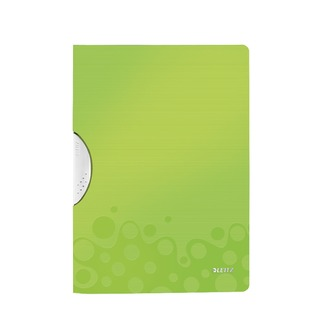 WOW A4 ColorClip Polypropylene File Green Metallic (10 Pack) 41850064