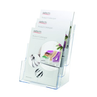 Clear A4 3-Tier Literature Holder DE773YTCRY