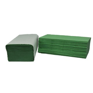Green I-Fold Hand Towel 1-Ply 190 x 250mm (3600 Pack)