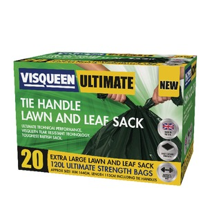 Ultimate Green Tie Handle Lawn and Leaf Sack 120 Litre RS05777
