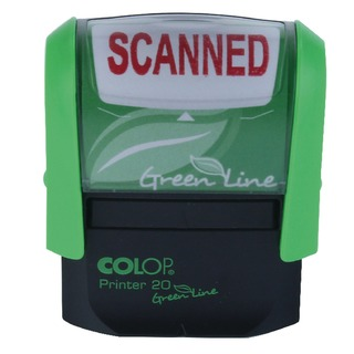 OLOP Green Line SCANNED Word Stamp P20GLSCA