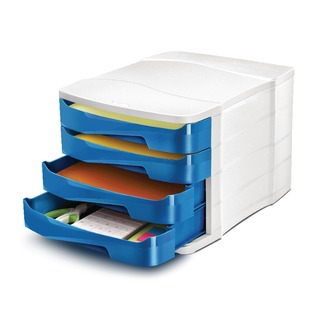 Pro Gloss Blue 4 Drawer Set 394GBLU