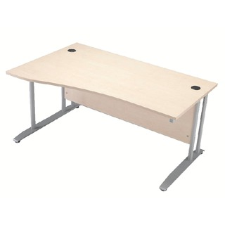 Maple 1600mm Wave Desk Left Hand