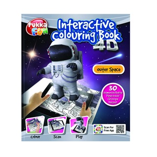 Pad Interactive Colouring Book 4D Outer Space 8424-FUN