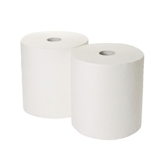 170mx250mm 3-Ply White Industrial Roll Pack of 2 GEM503B