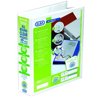 Panorama White A4 Plus 50mm 4 D-Ring Presentation Binder (10 Pack) 400001309