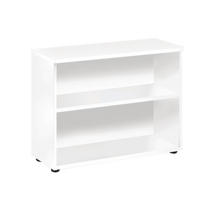 White 730mm Bookcase 1 Shelf
