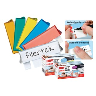 Assorted Dry Erase Suspension File Tabs (50 Pack) FPCLIPDRY50A