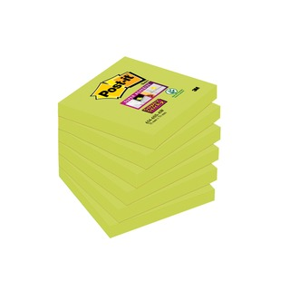 Post-it 76 x 76mm Asparagus Super Sticky Notes (6 Pack) 654-6SS-AW
