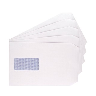 C5 Window Envelope 100gsm Self Seal White (500 Pack) 9007500
