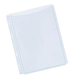 A4 Full Cover Expanding Punched Pocket (5 Pack)