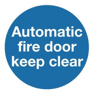 fety Sign Automatic Fire Door 100x100mm Self-Adhesive (5 Pack) KM73A