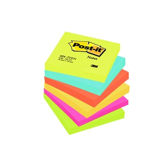 Post-it 76x76mm Energy Colours Notes (6 Pack) 654TF