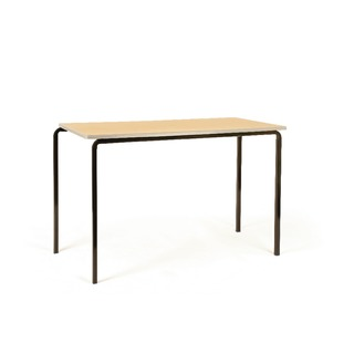 PU Edge Beech 1200x600x760mm Top Class Table With Silver Frame (4 Pack)