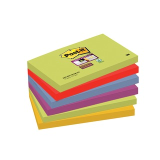 Post-it 76 x 127mm Marrakesh Super Sticky Notes (6 Pack) 654-6SS-MAR-EU