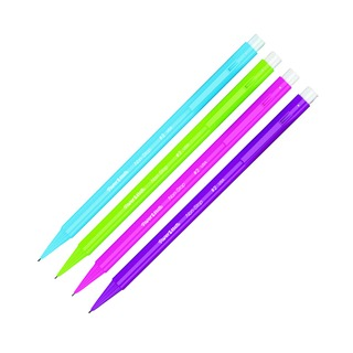 Mate Assorted Neon Non-Stop Automatic Pencils 0.7mm Blister Pack 12x4 (48 Pack) 1906