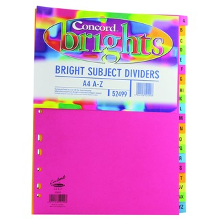 A4 Bright A-Z Subject Dividers (10 Pack)