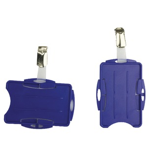 Blue Dual Security Pass Holder (25 Pack) 8218/06