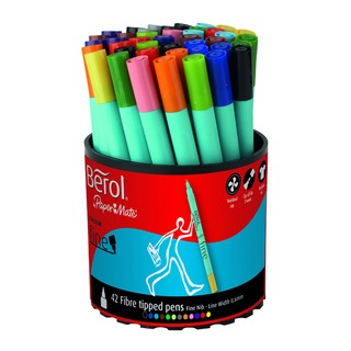 Assorted Water-Based Colourfine Pen Tub (42 Pack) S037649
