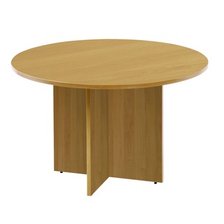Oak 1100mm Round Meeting Table