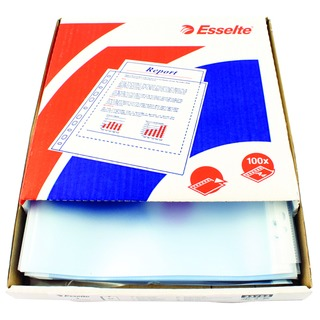 Esselte Clear A4 Plastic Pocket (100 Pack)