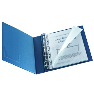 A4 Glossy Top and Left Side Open Punched Pocket (25 Pack)