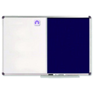 Combination Board Magnetic Dry Wipe and Blue Felt 1200 x 900mm 1902258