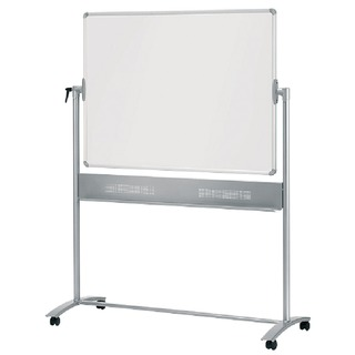 Grey Mobile Horizontal Pivot Whiteboard 1200 x 900mm 19010