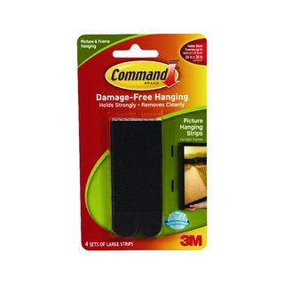 3M Command Large Picture Hanging Strips (4 Pack) 17206BLK