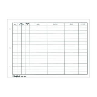 Loose-leaf Visitors Book Refill (50 Pack) T40/R