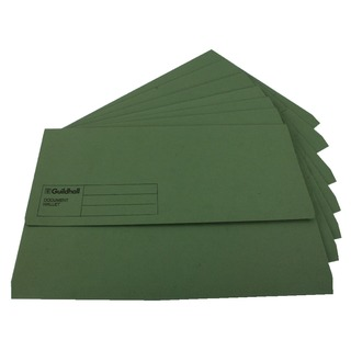 Foolscap Green Document Wallet (50 Pack) GDW1-GRN