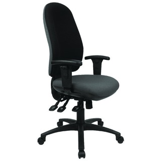 Radial High Back Posture Black Chair